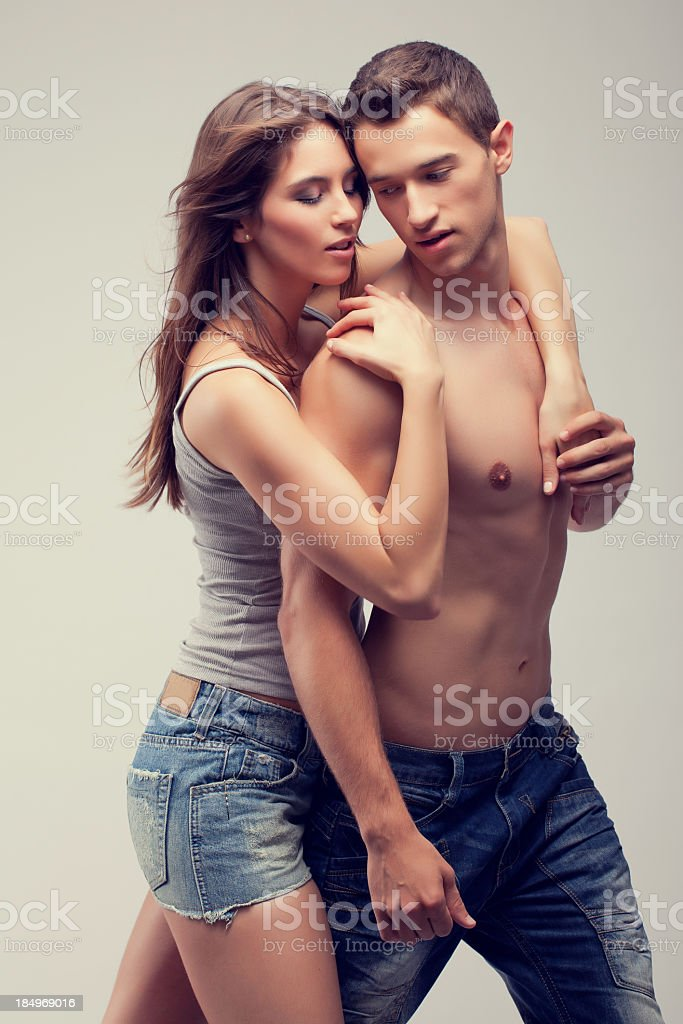 A man and woman being passionate royalty-free stock photo