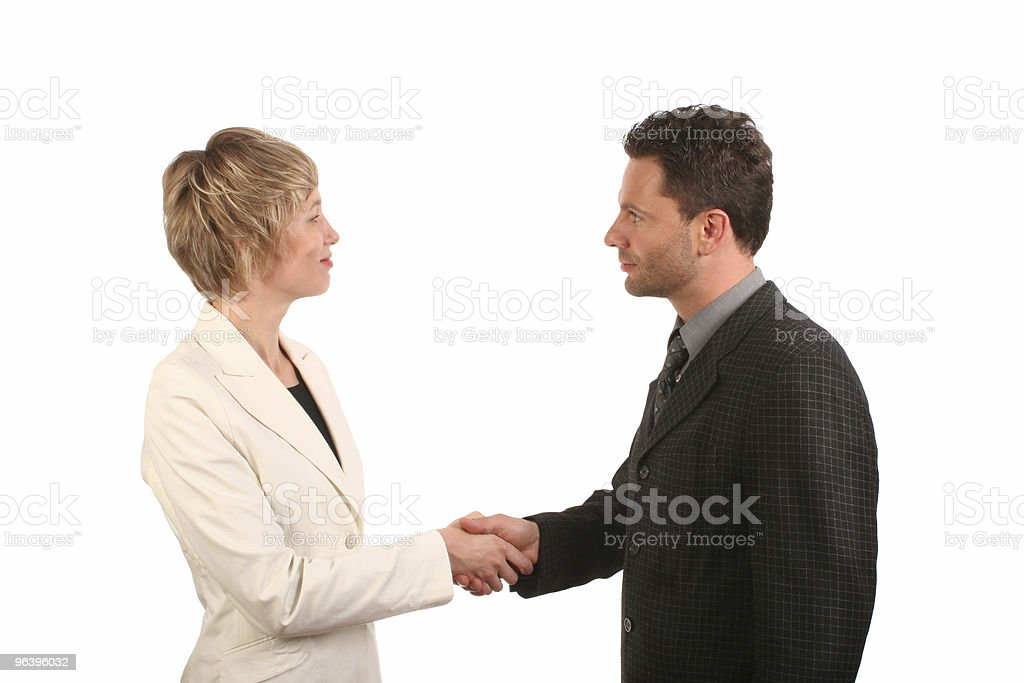 Man and woman business handshake - Royalty-free Adult Stock Photo