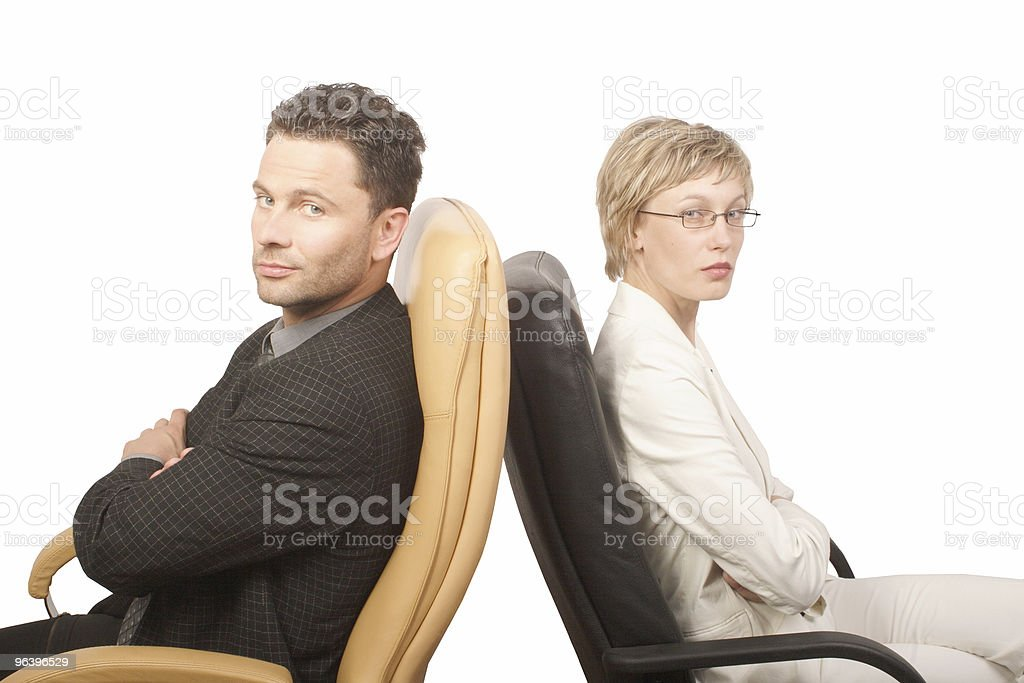 Man and woman - business partners - Royalty-free Agreement Stock Photo