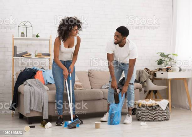Man and woman cleaning messy room after party picture id1080849820?b=1&k=6&m=1080849820&s=612x612&h=bvl qmxlfqzful9l2qofb3evl1budeaqmruqf5r guq=