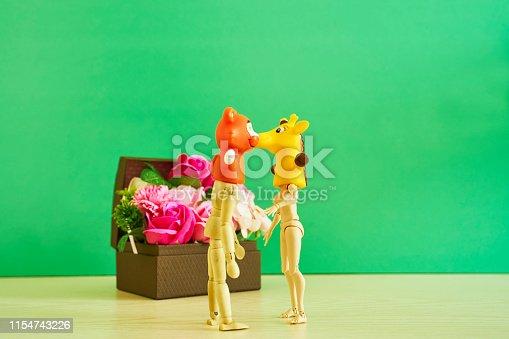 Animal masks, male and female dolls, gift box,