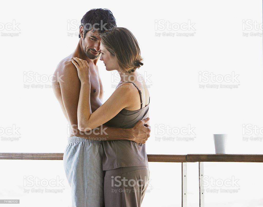 Homem e mulher experimentando foto de stock royalty-free
