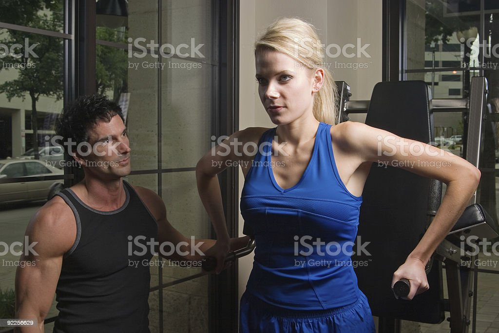 Man And Woman Exercising 11 royalty-free stock photo