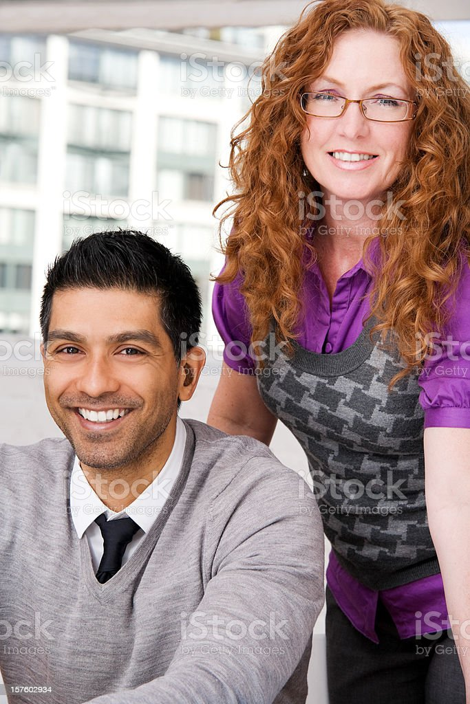 Man and Woman in an Office royalty-free stock photo