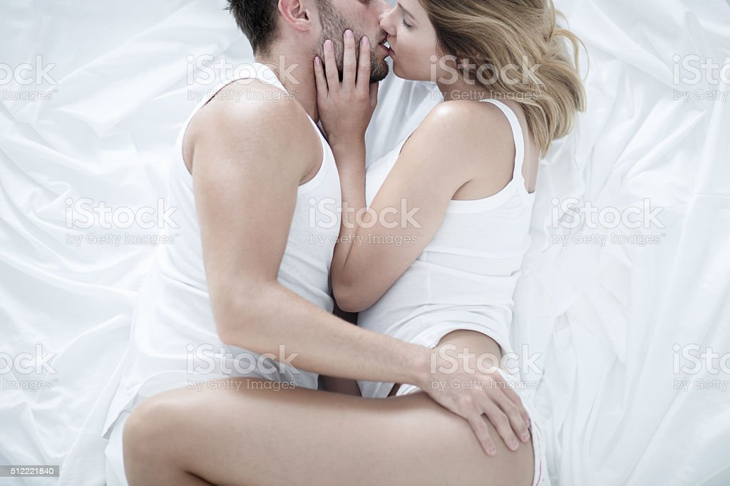 Man and woman in love stock photo