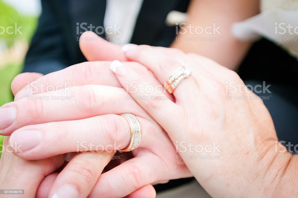 Man and woman maried stock photo