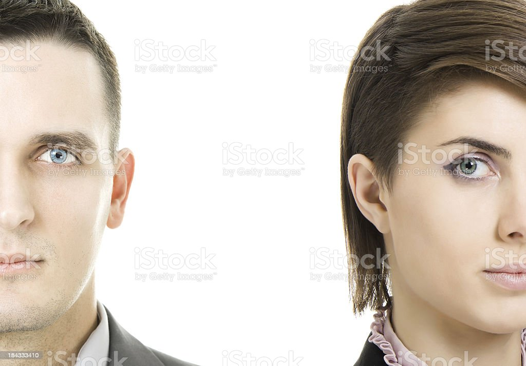 Man and woman stock photo