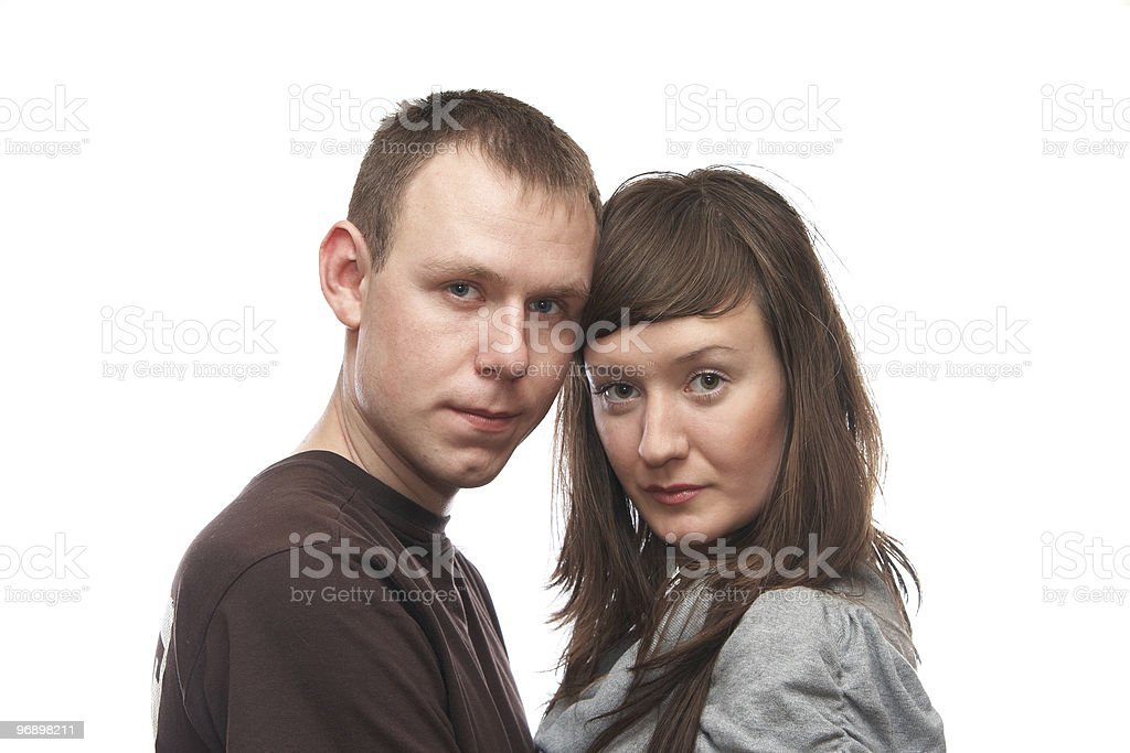 Man and woman royalty-free stock photo