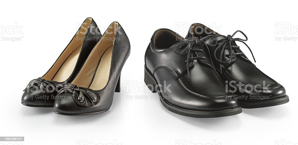 man and woman shoe stock photo