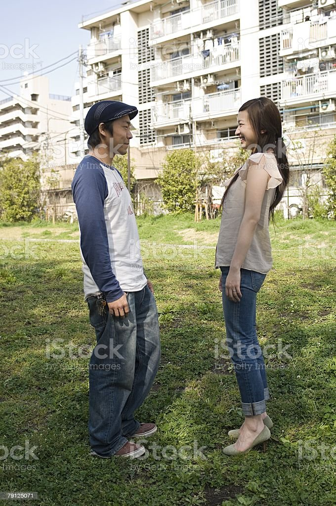 Man and woman smiling 免版稅 stock photo