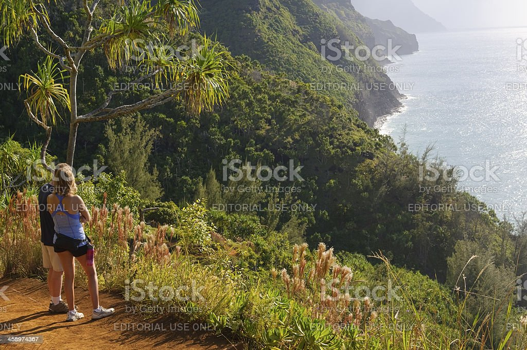 Wanderer auf der Na-Pali-Küste – Foto