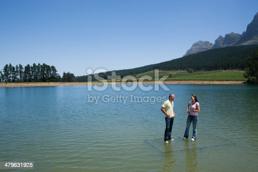 istock Man and woman standing  479631925