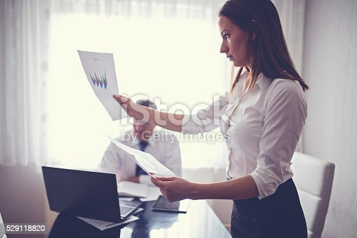 672116416istockphoto Man and woman working together 529118820
