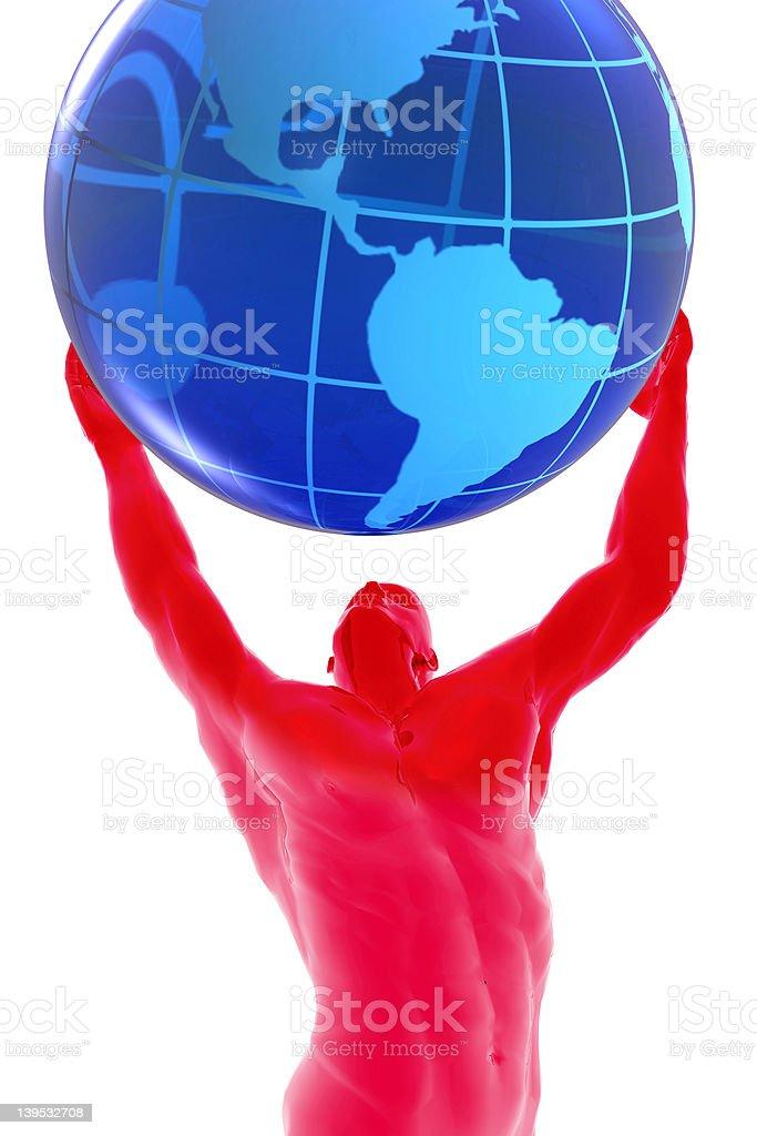 man and world royalty-free stock photo
