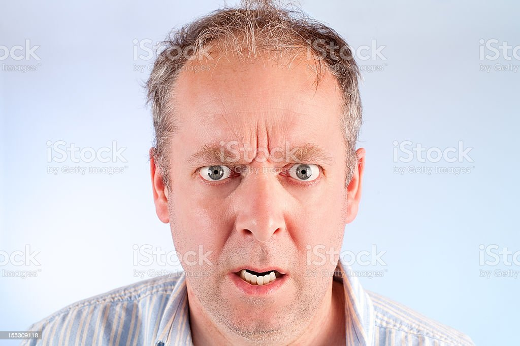 Man Angry about Something royalty-free stock photo