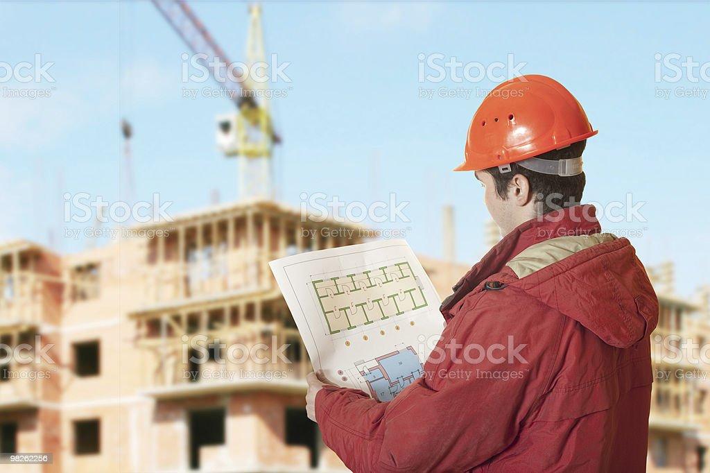 Uomo architetto foto stock royalty-free