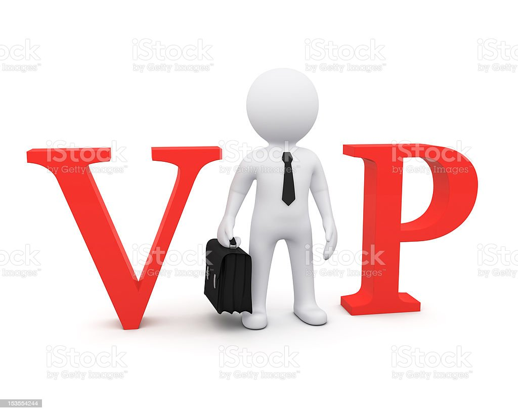 3D man as VIP person stock photo