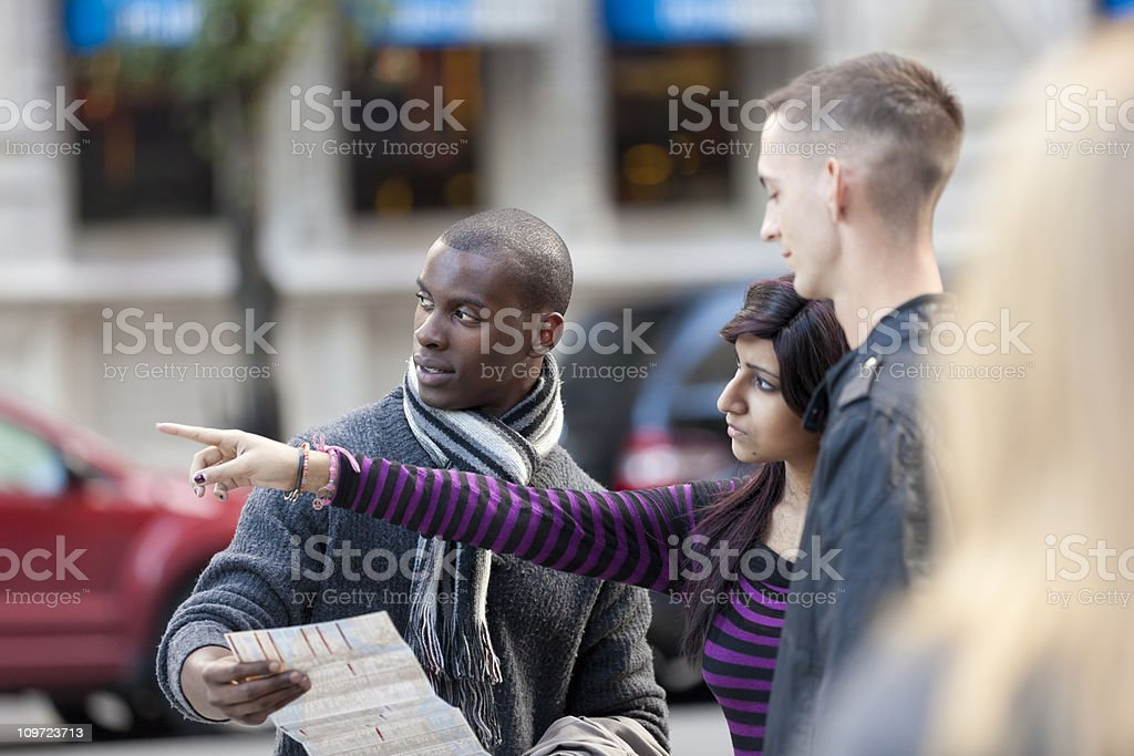 Man asking for directions royalty-free stock photo