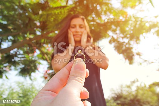 istock man asking marry to his happy girlfriend 823280792
