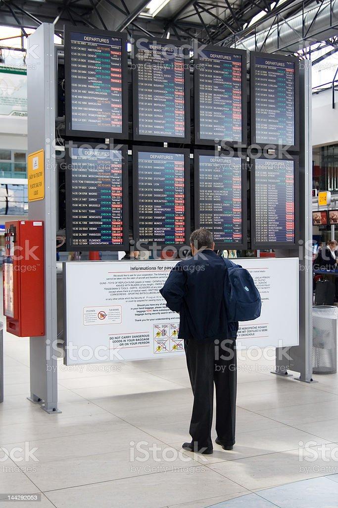 Man at airport royalty-free stock photo