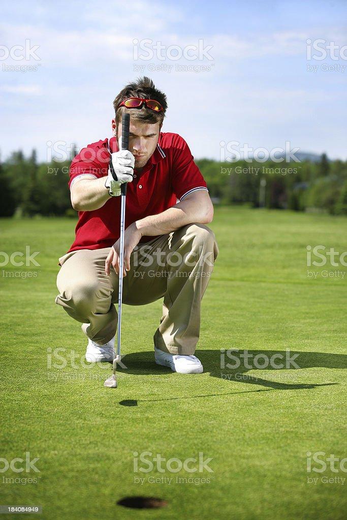 Man at golf royalty-free stock photo