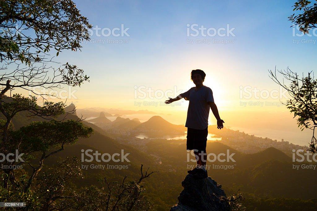 Man at Rio de Janeiro stock photo