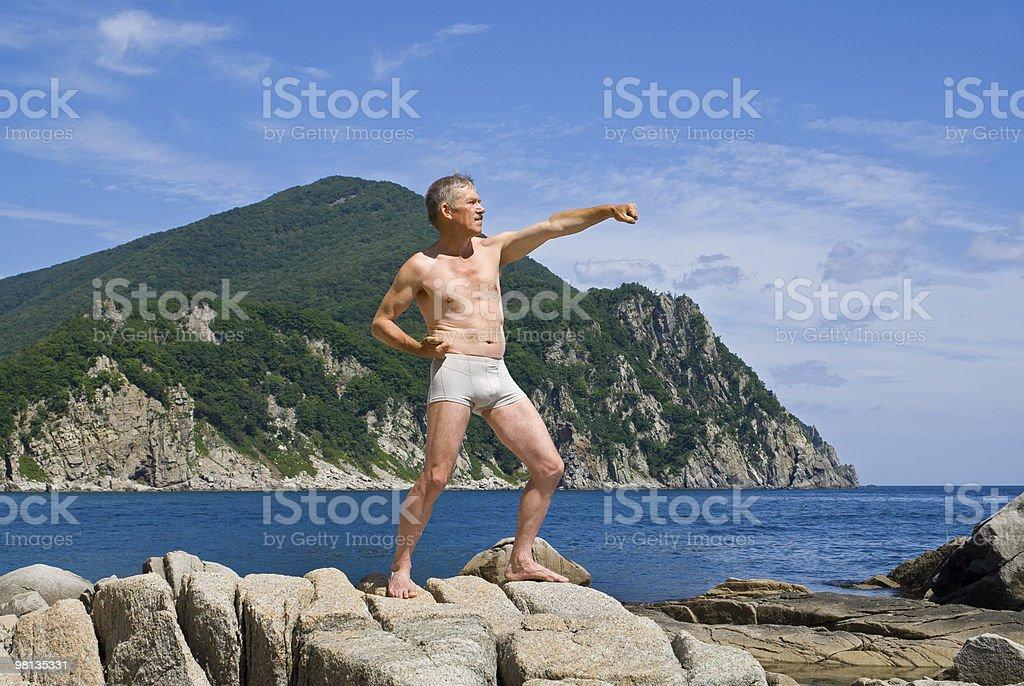Man at sea royalty-free stock photo