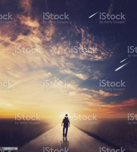 Photo of Man at sunset