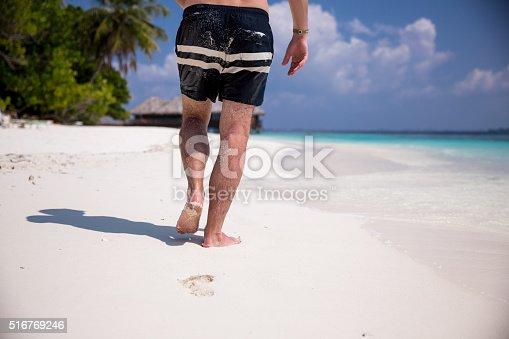 174919648 istock photo Man at the beach 516769246