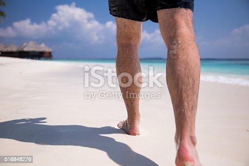 174919648 istock photo Man at the beach 516848276