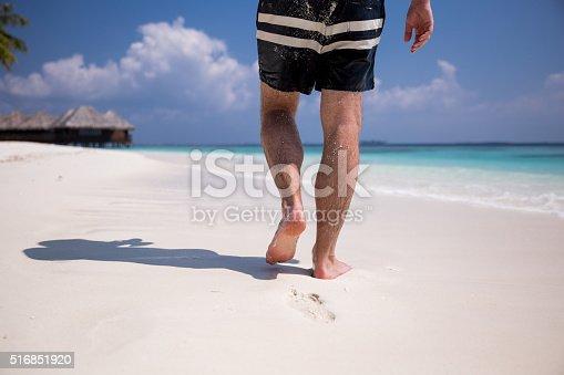 174919648 istock photo Man at the beach 516851920