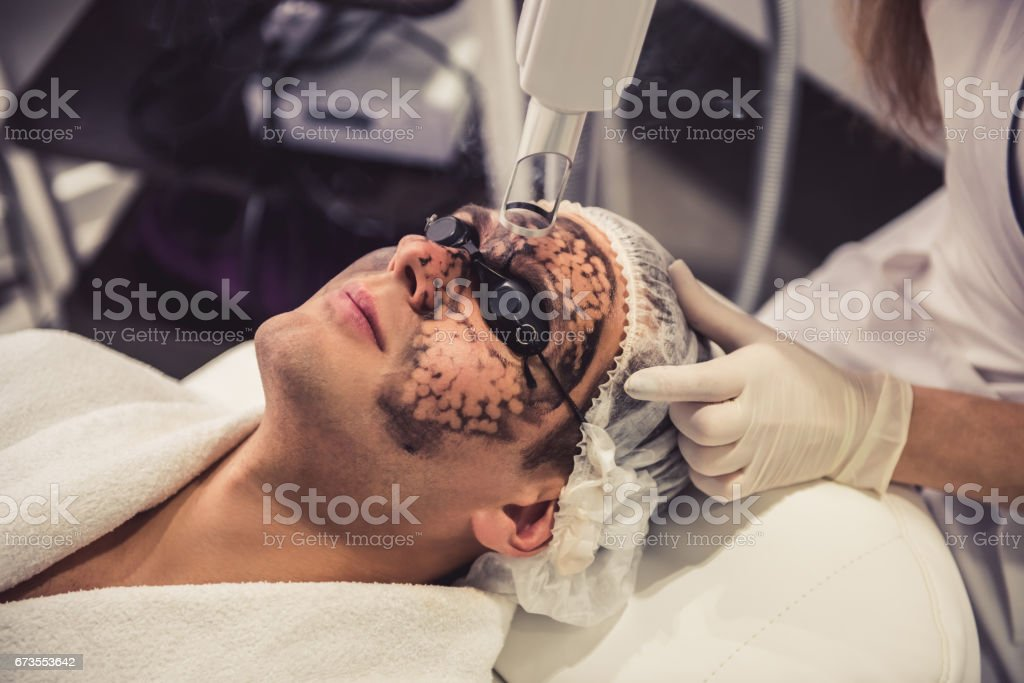Man at the beautician royalty-free stock photo