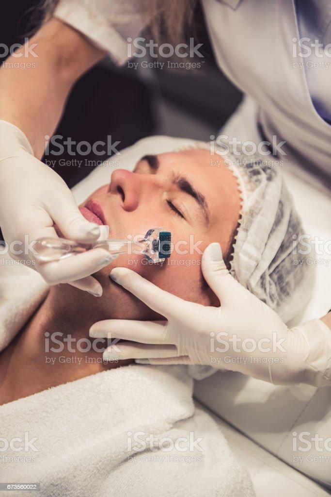 Man at the beautician royalty-free stock photo