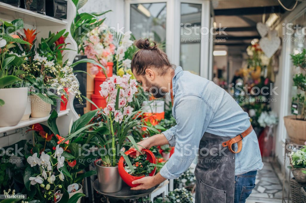 Man at the flower shop