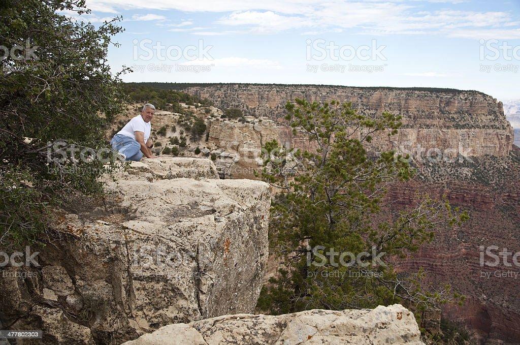 Man at the Grand Canyon royalty-free stock photo