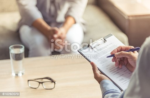 istock Man at the psychotherapist 610262070