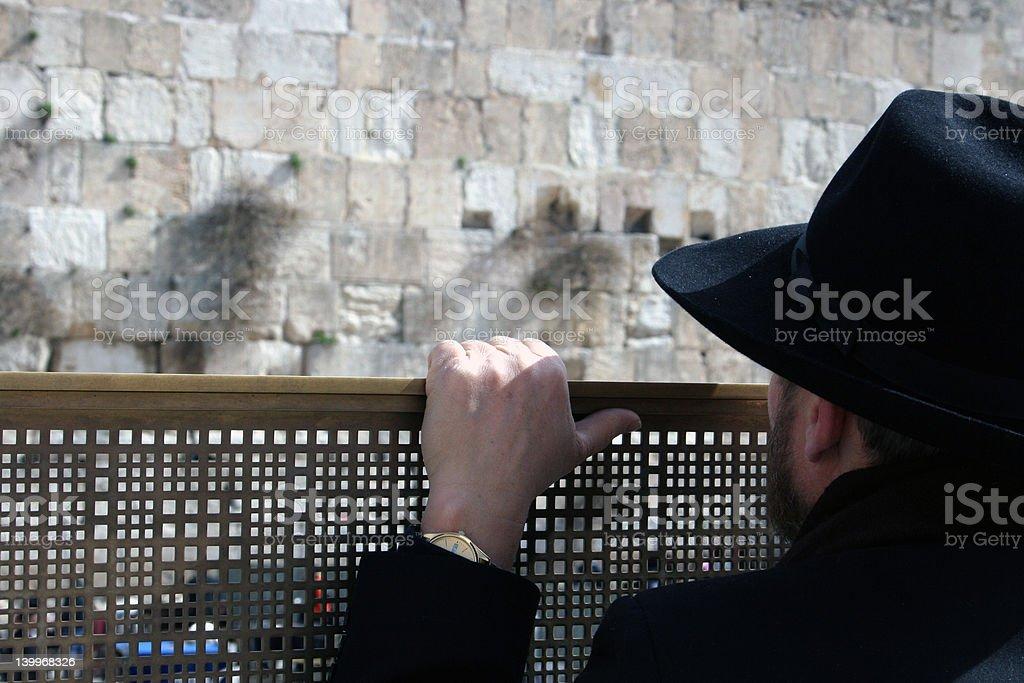 man at the Western Wall, Jerusalem israel royalty-free stock photo