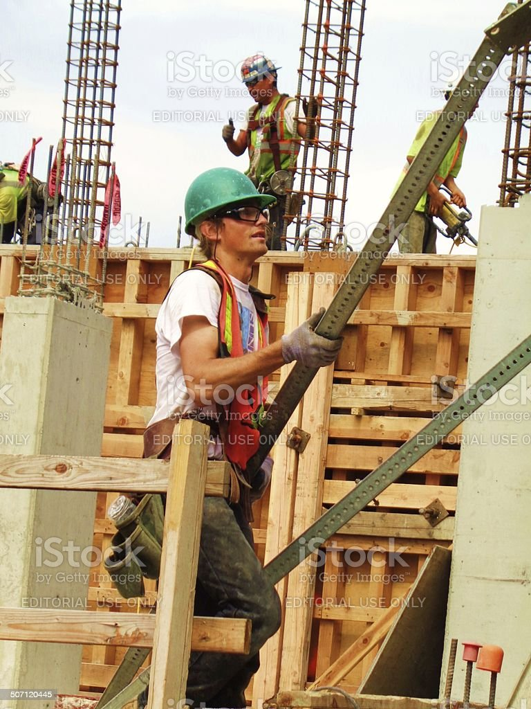 Man at work - Construction Site stock photo