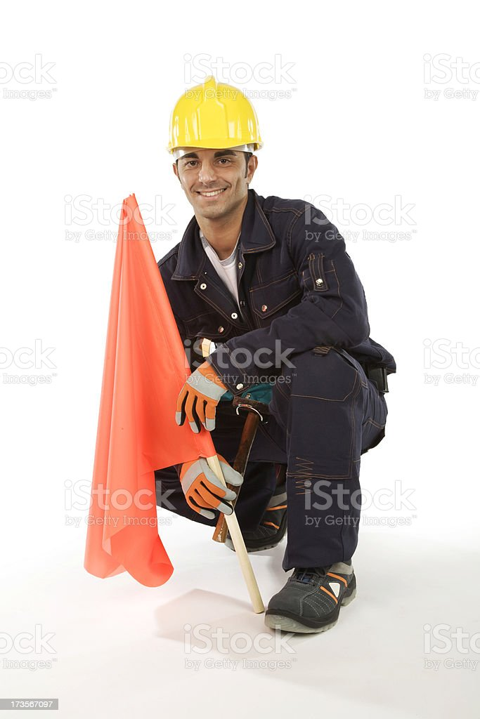 man at work stock photo