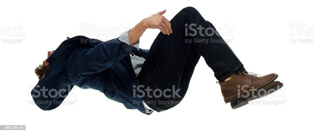 Man backflipping stock photo