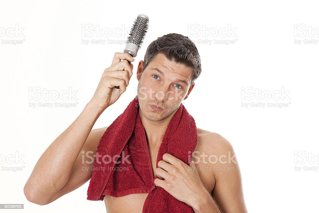 man beauty and body care royalty-free stock photo