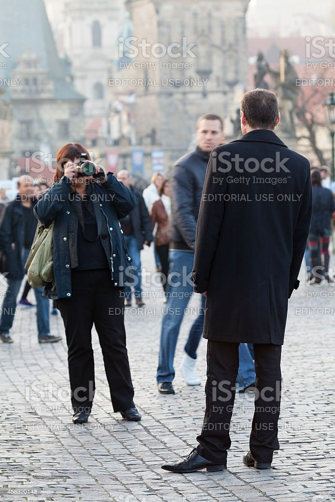 Man being photographed royalty-free stock photo