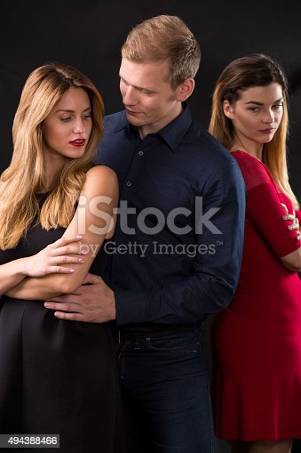 istock Man betraying his wife 494388466