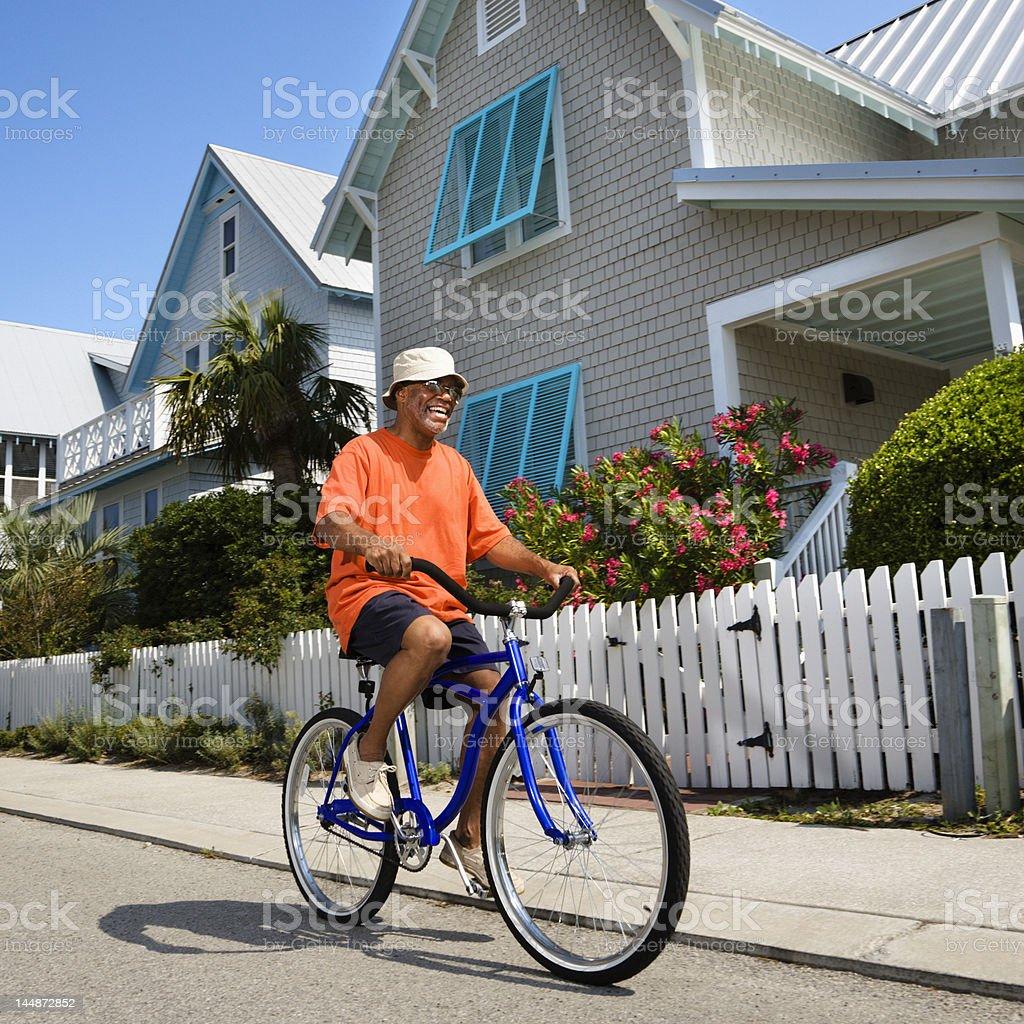 Man bicycling. royalty-free stock photo
