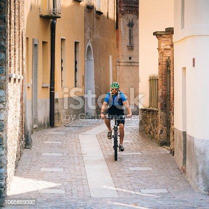 On cobblestone street, Ticino