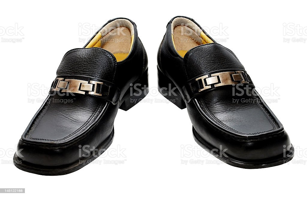 man black shoes royalty-free stock photo