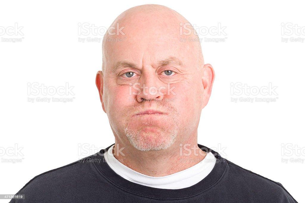 Man Blowing Cheeks stock photo