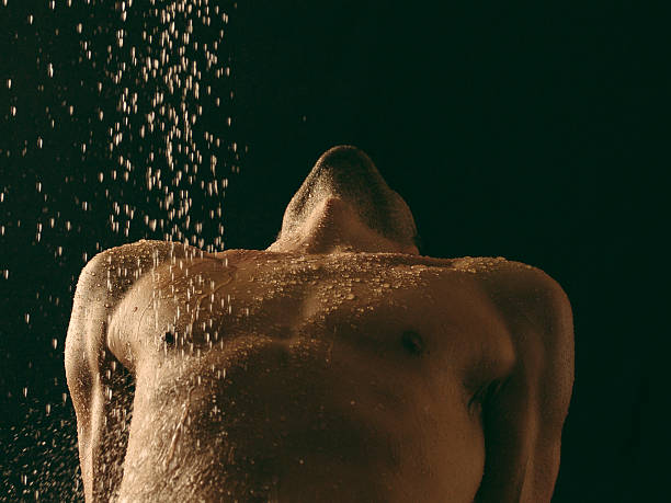 Man body with water stock photo