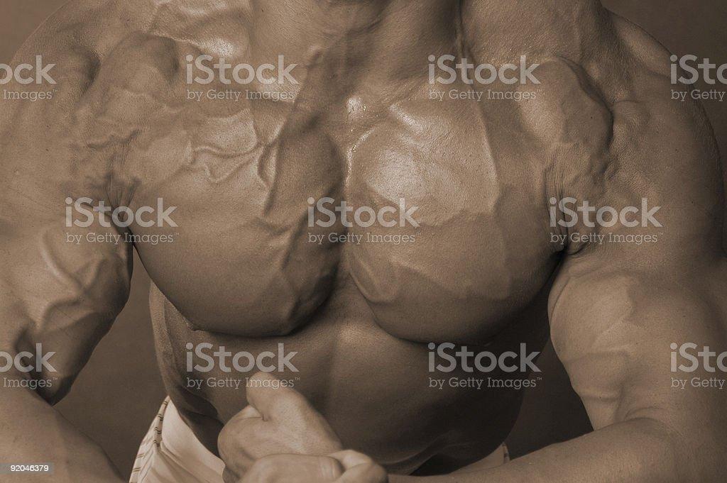 Man boobs royalty-free stock photo