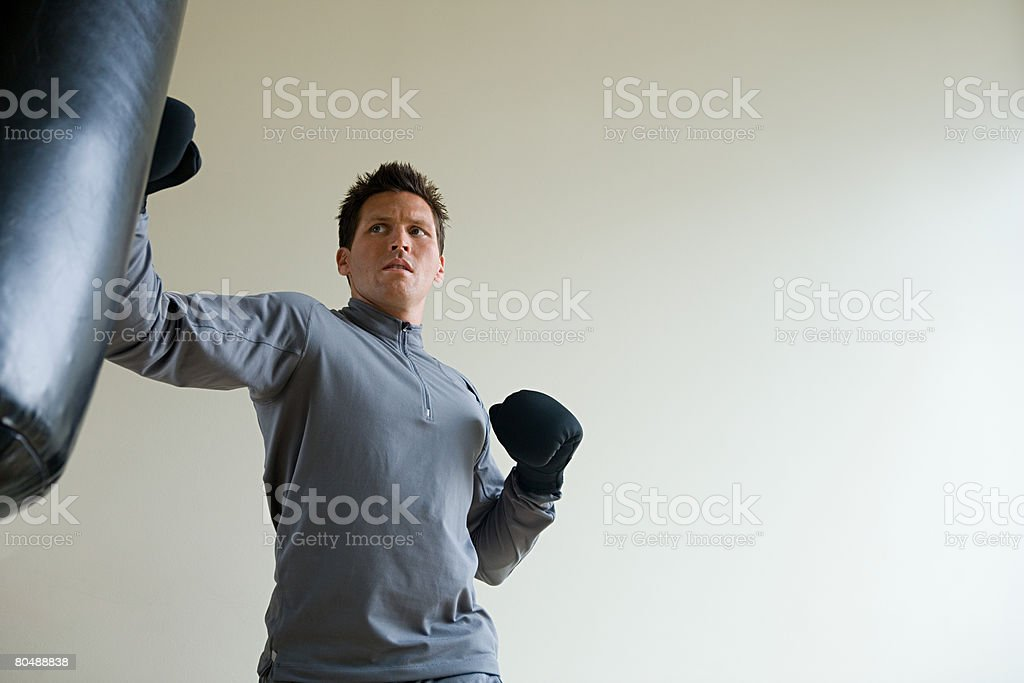 A man boxing royalty-free 스톡 사진